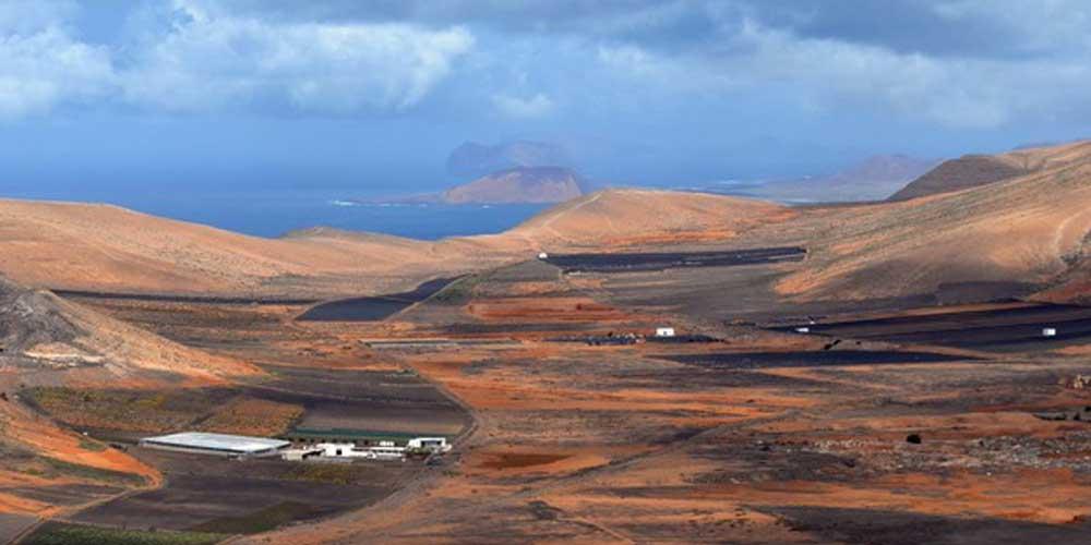 Vista de La Graciosa desde Lanzarote.