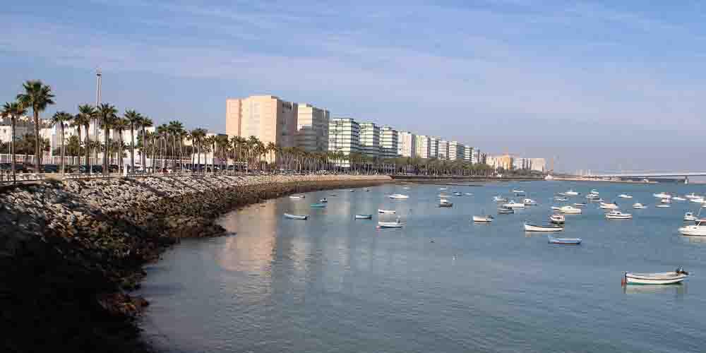 Imagen de la playa de Cádiz.