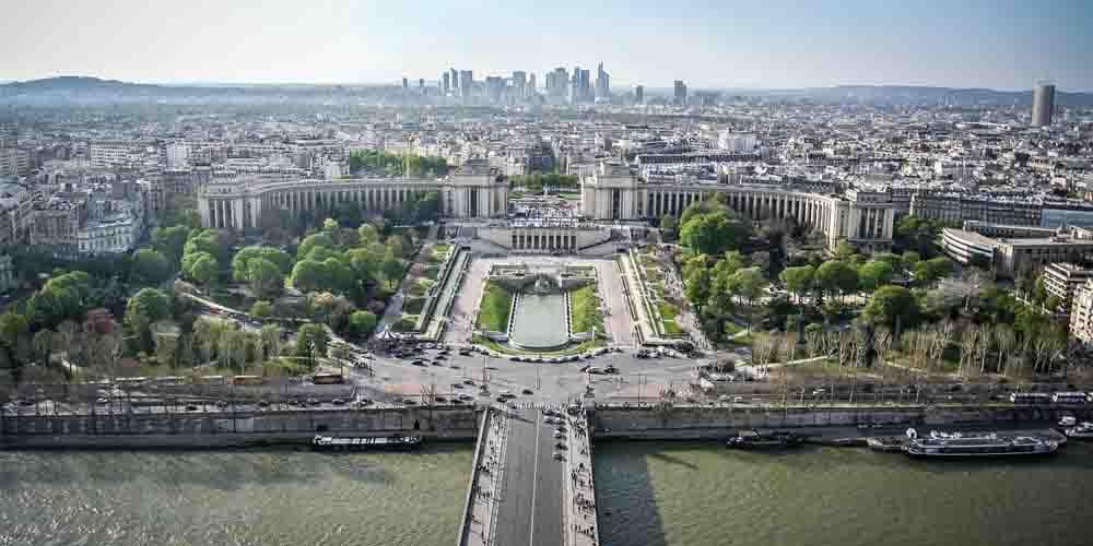 Una vista que tienes al subir a la Torre Eiffel.