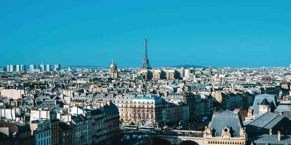 Vista panorámica del skyline de París.