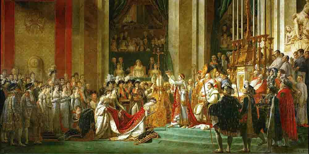 Imagen de La Consagración de Napoleón.