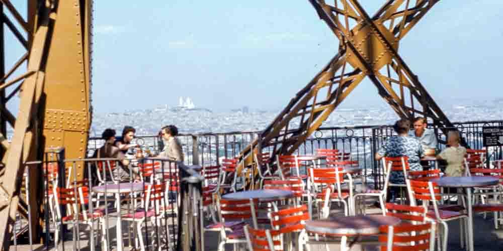 El Restaurante 58 en una de las plantas de la Torre Eiffel.