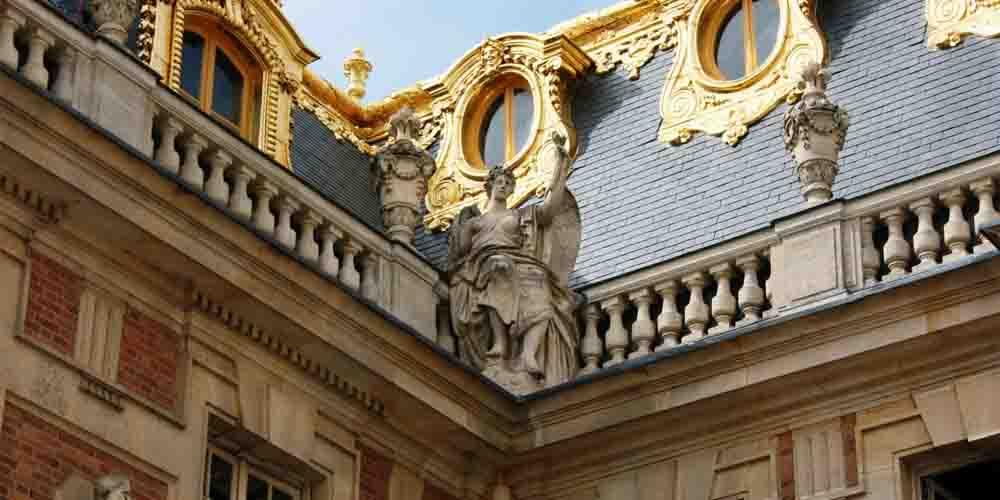 Detalle de una esquina de Versalles.