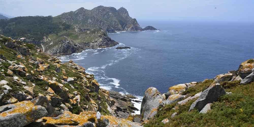 Vista de una de las rutas de senderismo que hacer en las Islas Cíes