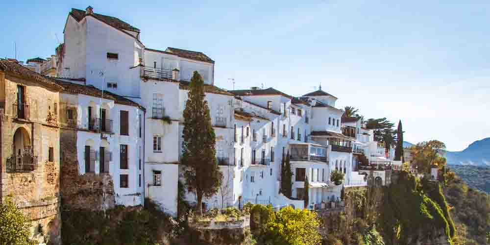 Vista del pueblo de Ronda.