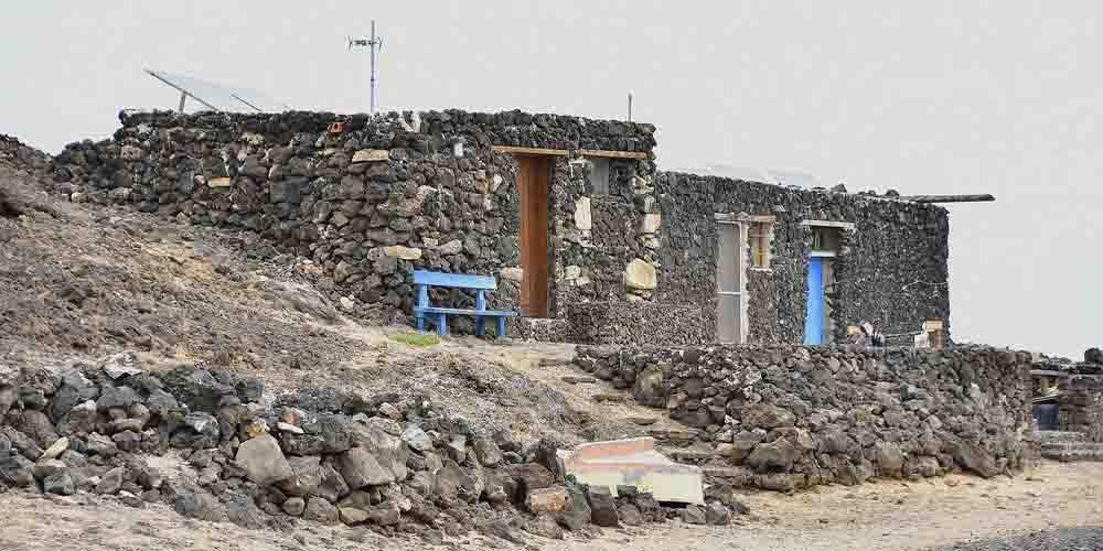 Una de las casas de pescadores que ver en la Isla de Lobos.