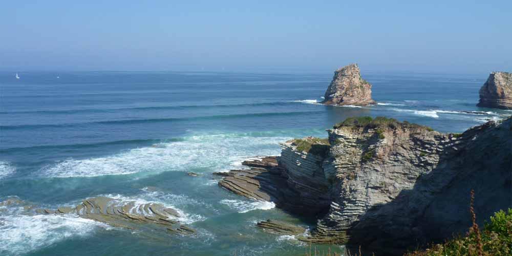 Imagen de la costa francesa desde Hendaya.