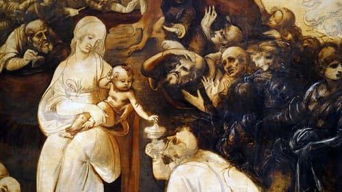 Adoración de los Magos de Leonardo Da Vinci