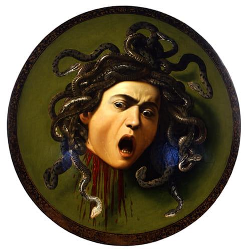 Escudo con la Cabeza de la Medusa de Caravaggio