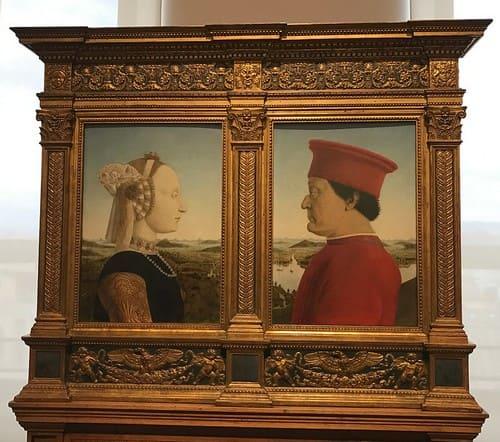 Retrato de los Duques de Urbino de Piero della Francesca