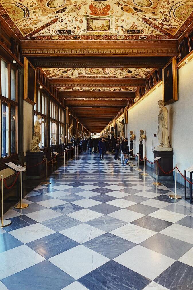 Visitar la Galería Uffizi es un imprescindible en Florencia